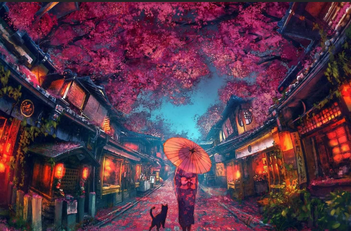 Hales Luca. Cherry blossoms in full bloom in autumn (DMCA protected work)