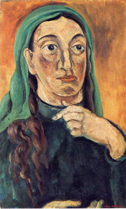 Макс Вебер. Женщина в зеленом платке
