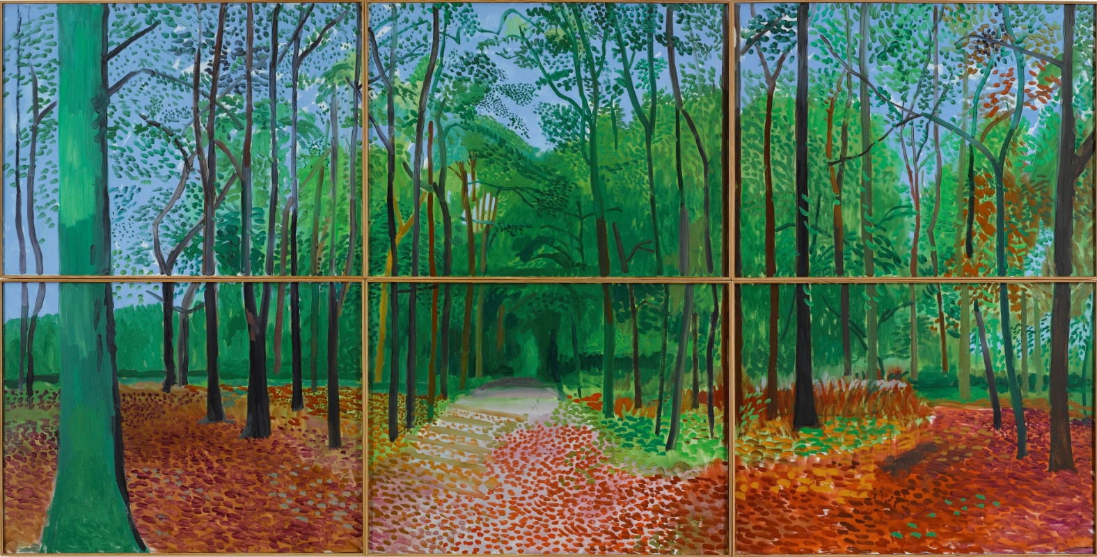 David Hockney. Forests in East Yorkshire on October 24, 25 and 26, 2006