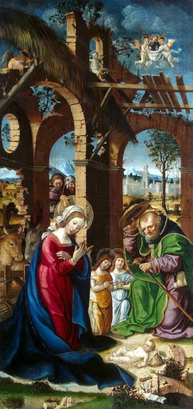 Гандольфино да Рорето. Рождество Христа