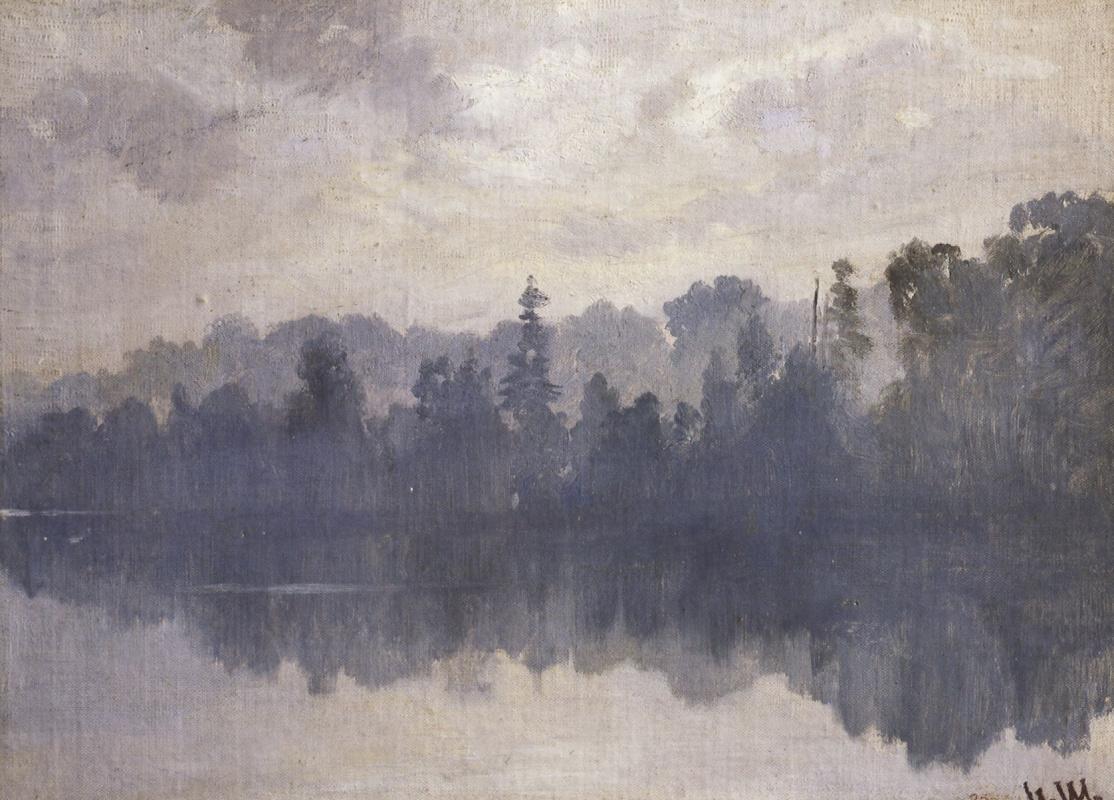 Иван Иванович Шишкин. Крестовский остров в тумане