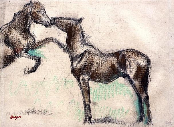 Edgar Degas. Two horses
