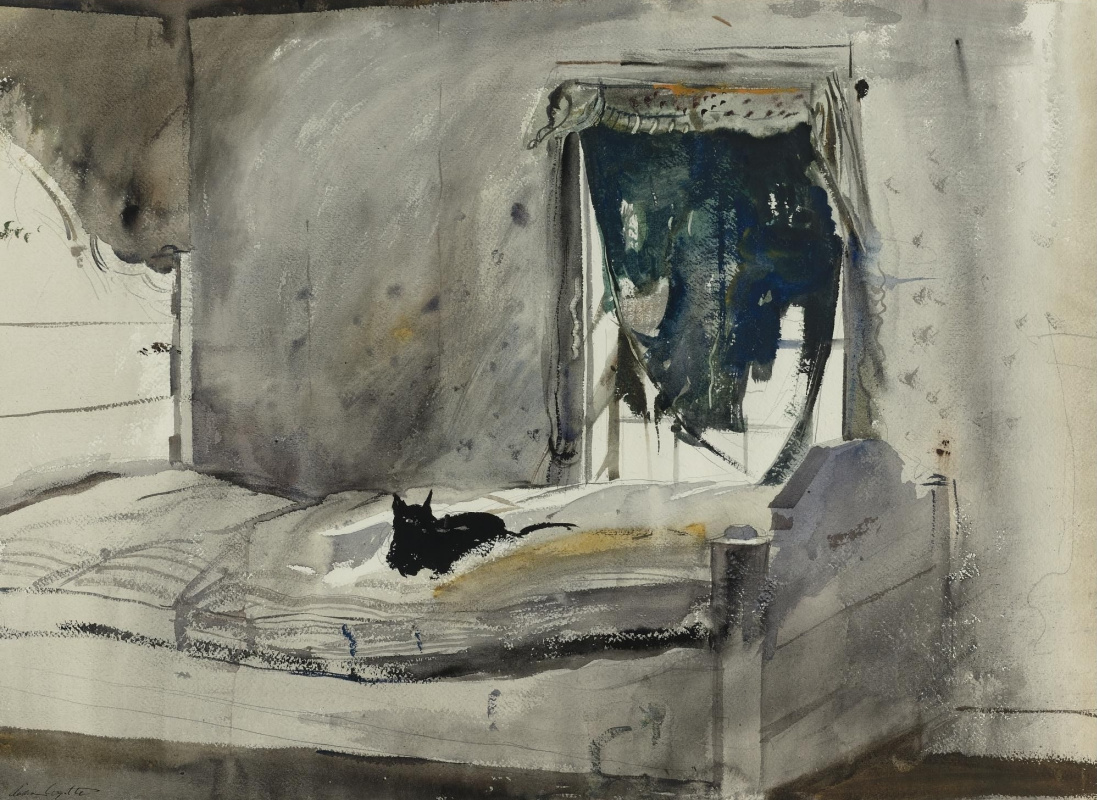 Andrew Wyeth. Bedroom Christina