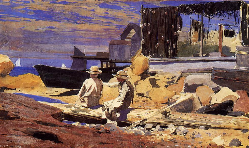 Winslow Homer. Waiting for the boats