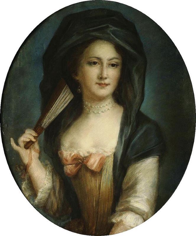 Розальба Каррьера (Каррера). Портрет дамы с веером