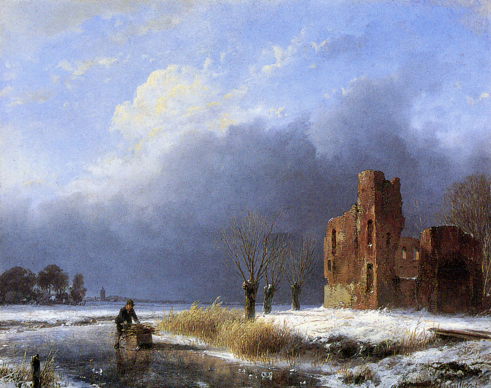Andreas Schelfout. The wheelers at the ruins
