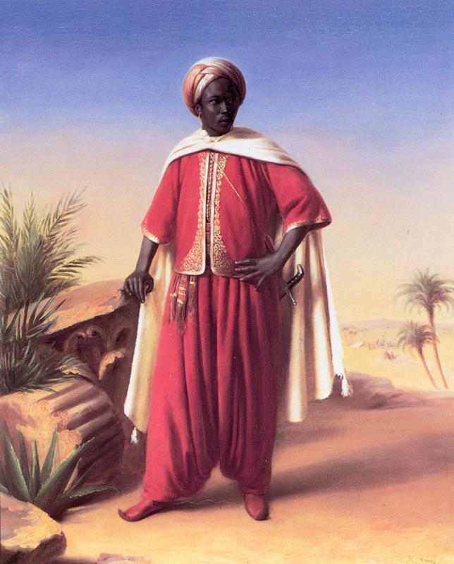 Эмиль Жан Орас Верне. Портрет араба