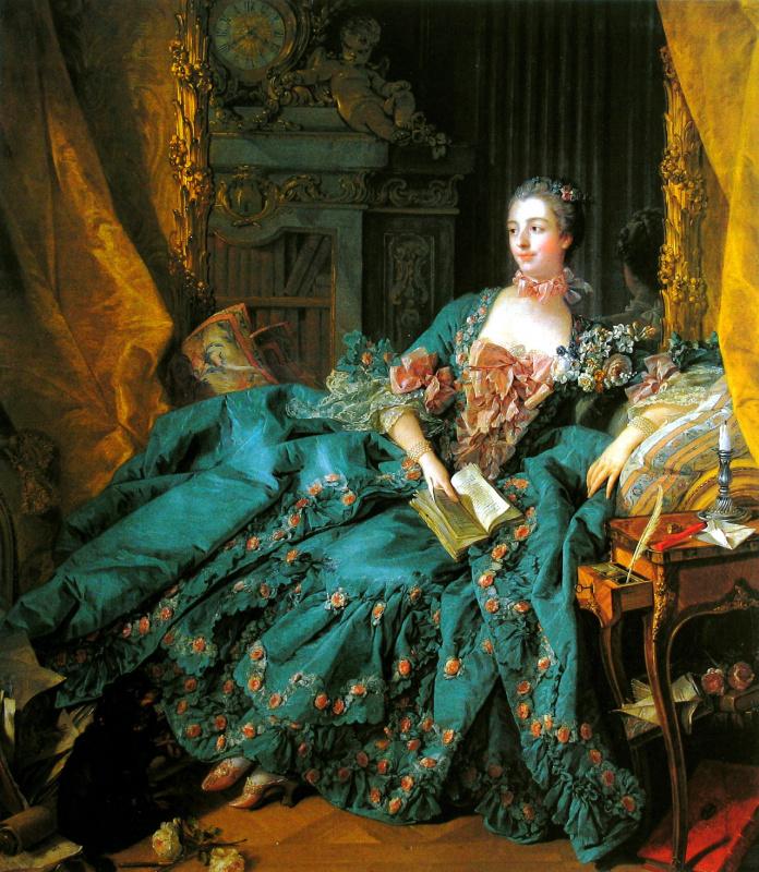 Francois Boucher. Portrait of Madame de Pompadour