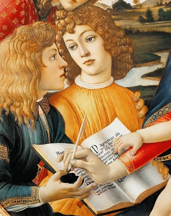 Sandro Botticelli. Madonna of the Magnificat (detail)