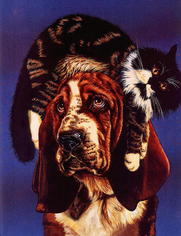 Валь и Рон Линдхан. Кошка и собака