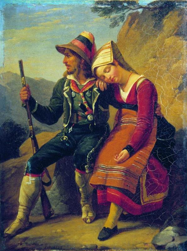 Peter Vasilyevich Basin Russia. Italian robber. 1822