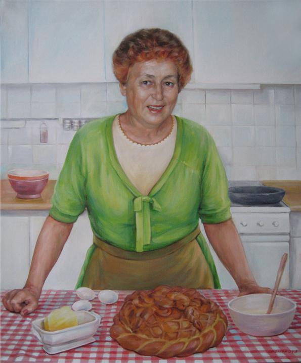 Svetlana Belova. A woman in the kitchen