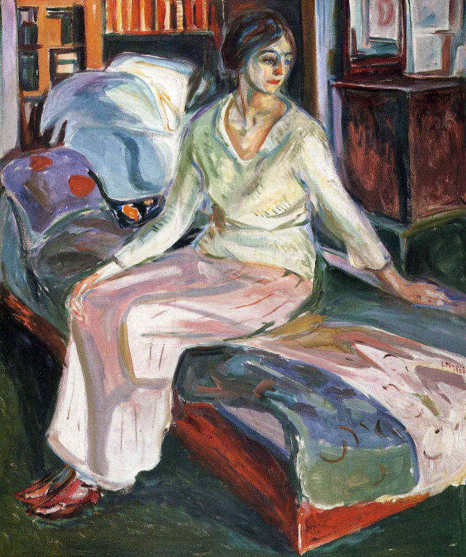 Edvard Munch. Model on the couch