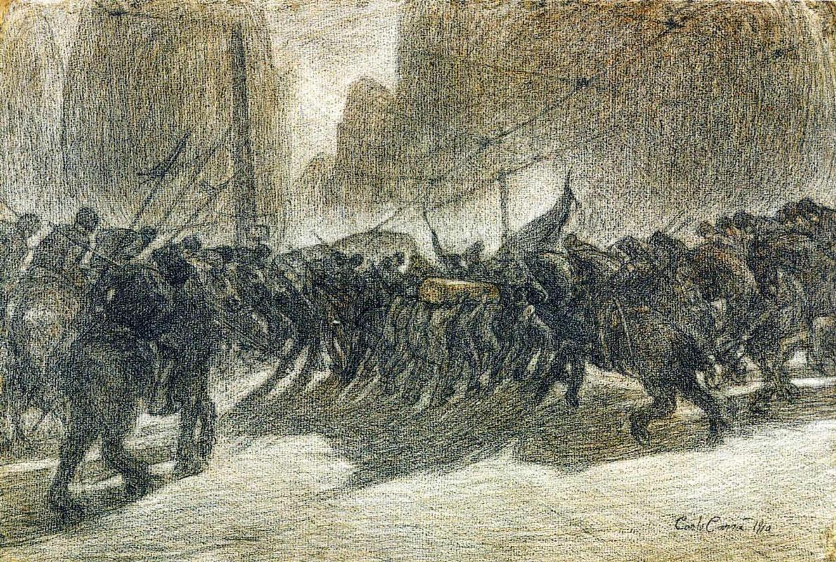 Карло Карра. Воины
