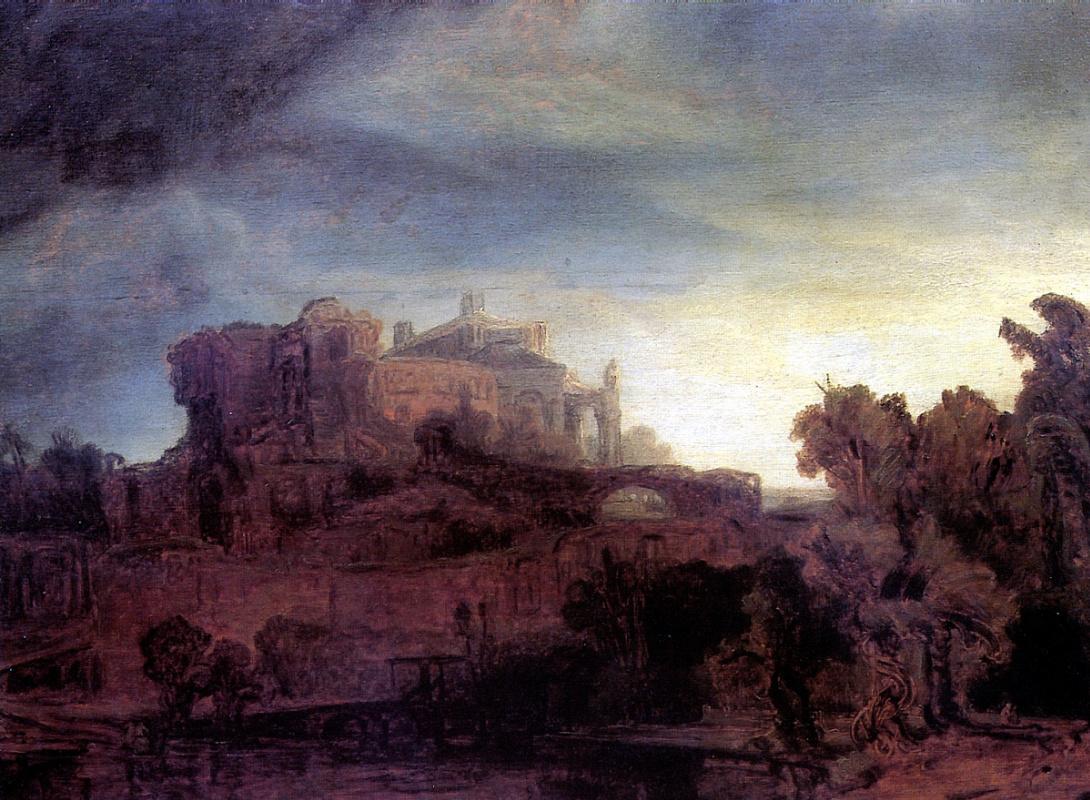Рембрандт Харменс ван Рейн. Пейзаж с замком