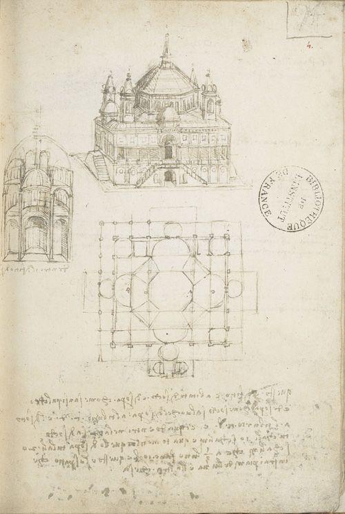 "Леонардо да Винчи. Страница из ""Кодекса Ашбернхема"""