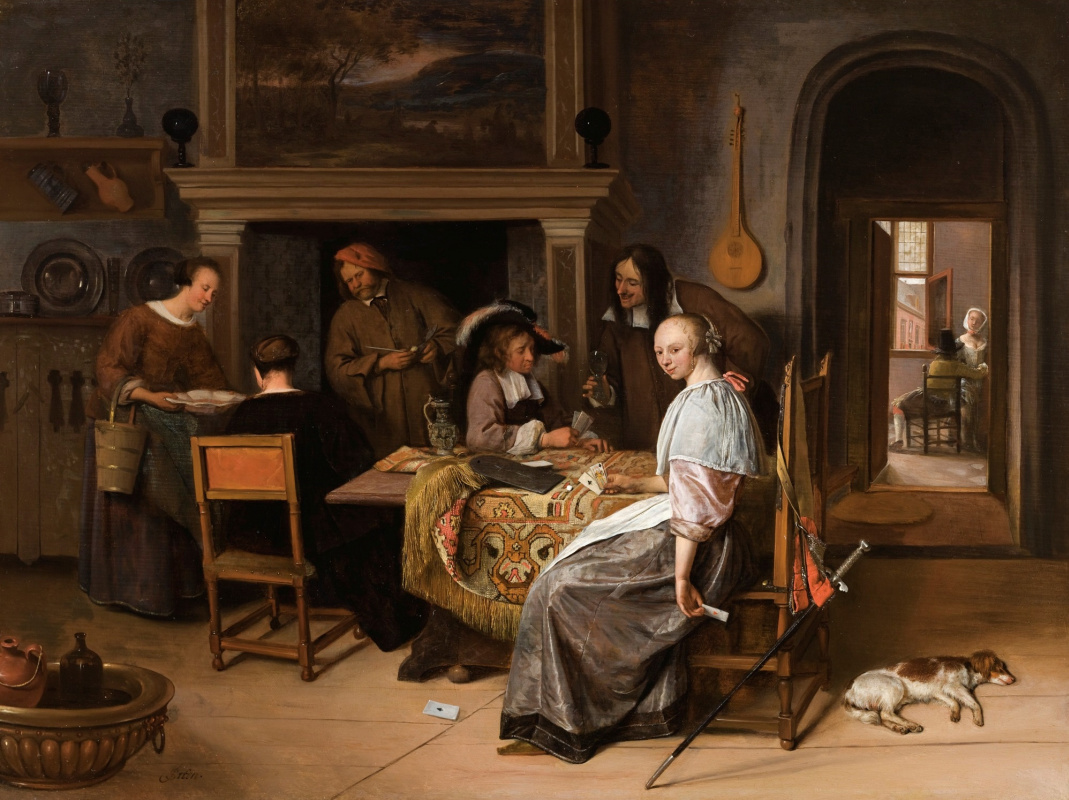 Jan Steen. The card players