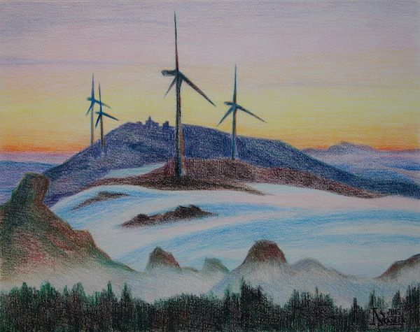 Larissa Lukaneva. Windmills in the fog