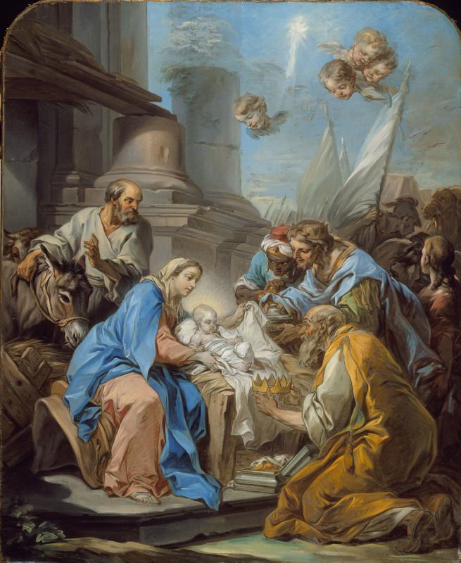 Шарль Андре ван Лоо. Поклонение волхвов