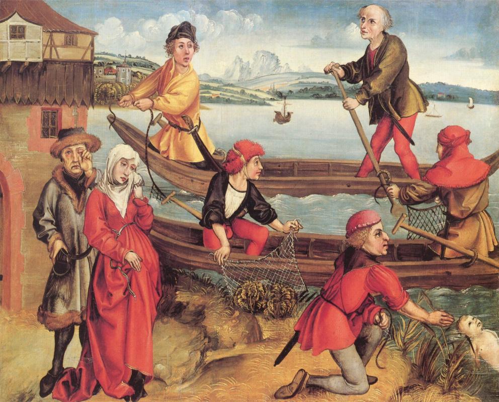 Albrecht Durer. Miraculous salvation of a drowned boy from Bregenz