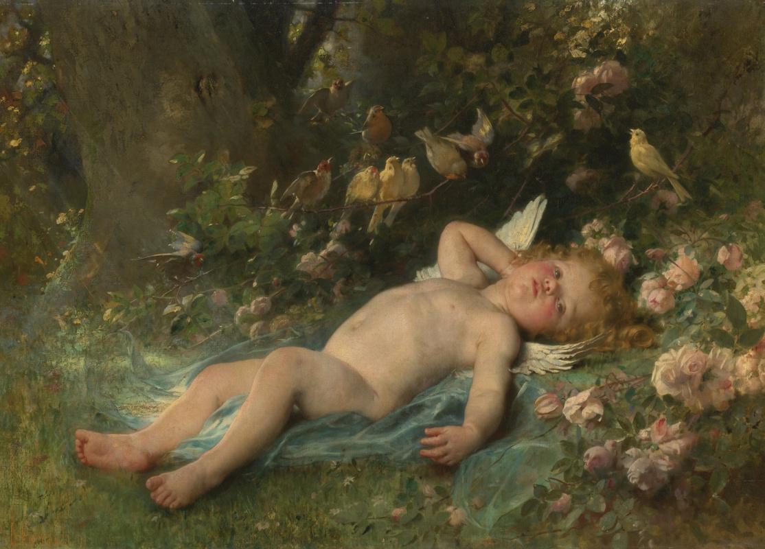 Leon Basile Perrot France 1832-1908. Awakening Cupid.