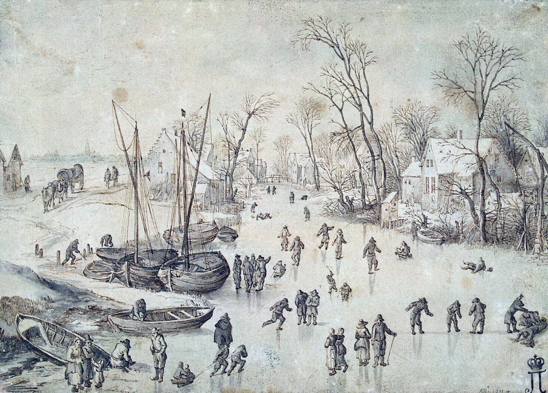 Ян Брейгель Старший. Зимний пейзаж
