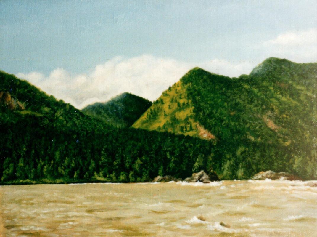 Vladimir Vasilyevich Abaimov. Mountain Altai. Katun River