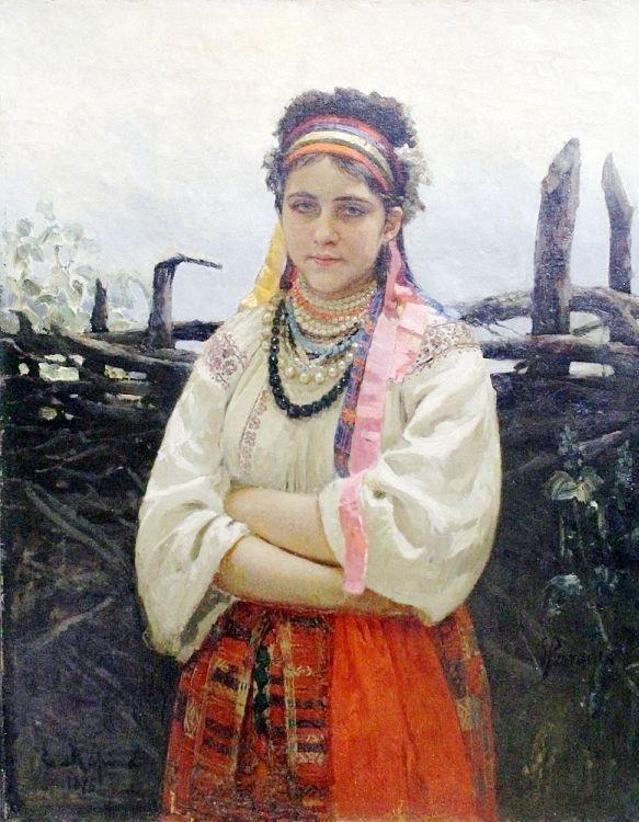 Илья Ефимович Репин. Украинка у плетня