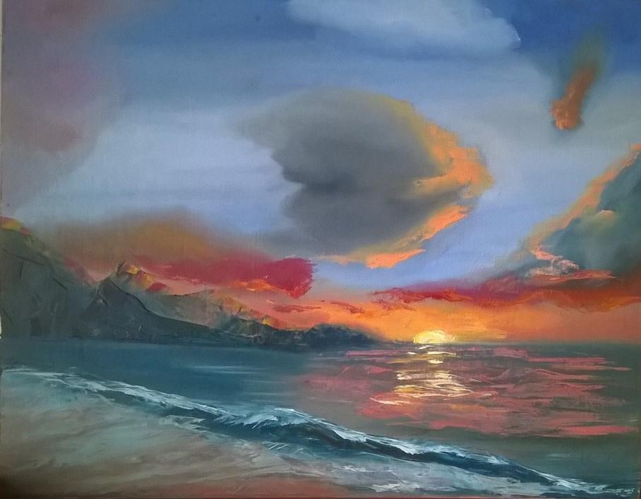 Ankel Volkov. Sunset on the coast.
