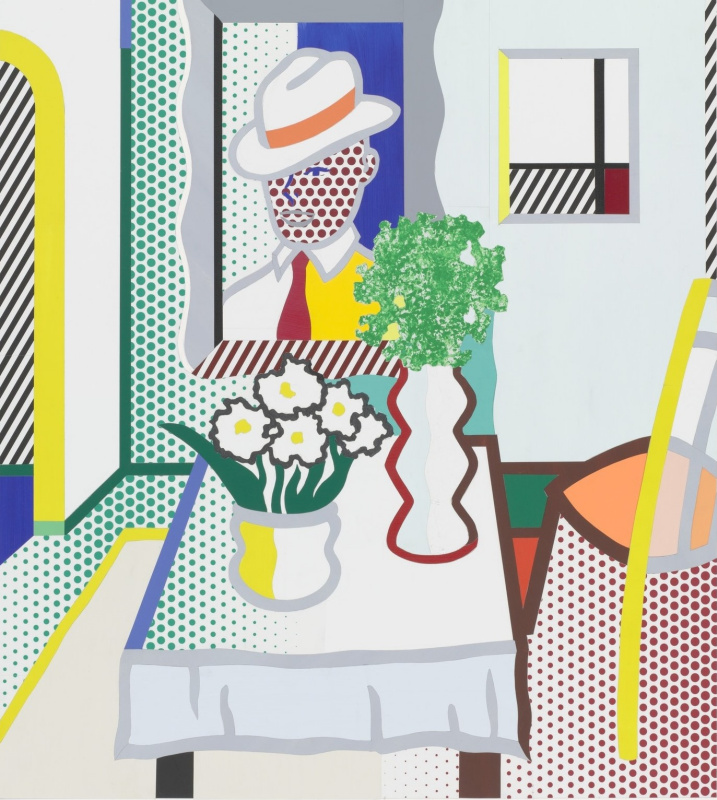 Roy Liechtenstein. Untitled (Table with two vases)