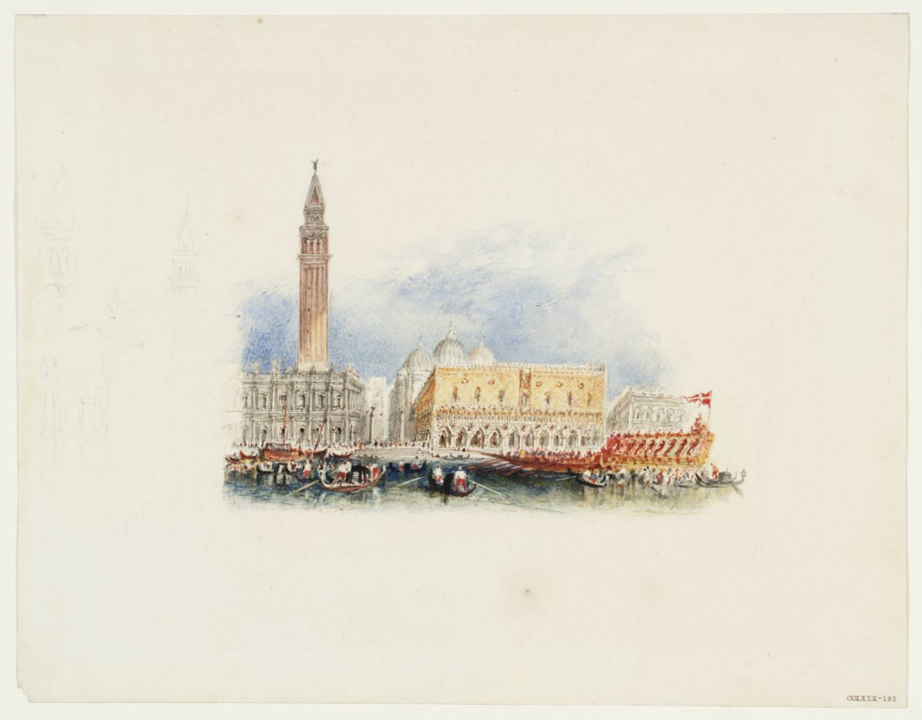 "Joseph Mallord William Turner. Venice for ""Italy"" of Rogers"