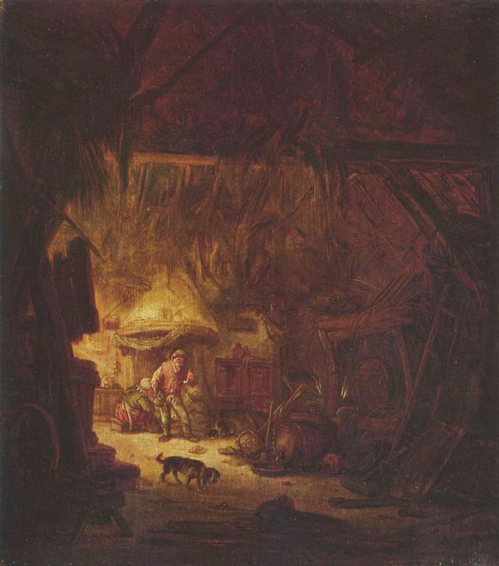 Исаак ван Остаде. В крестьянском доме