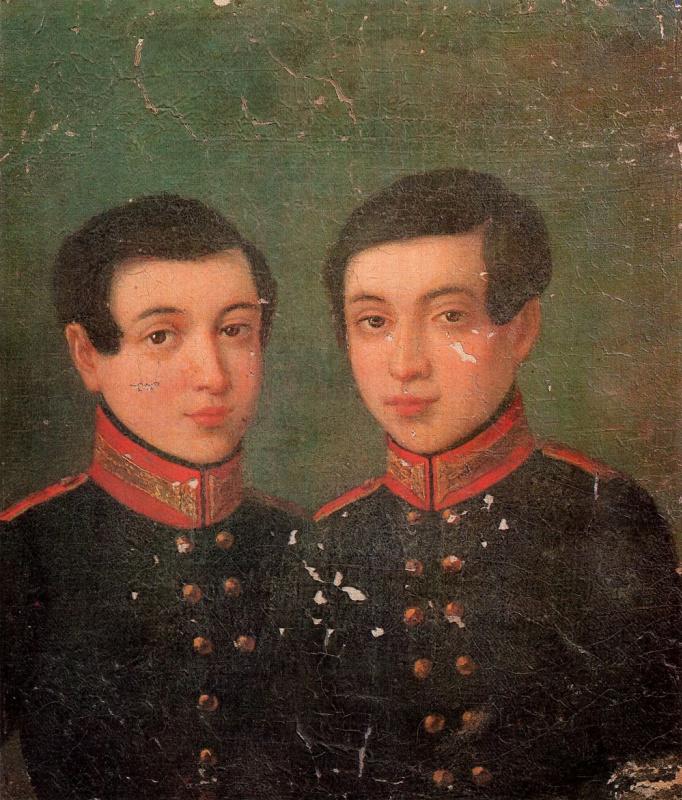 Александр Васильевич Поляков. Портрет близнецов Аркадия и Ивана Корниловых