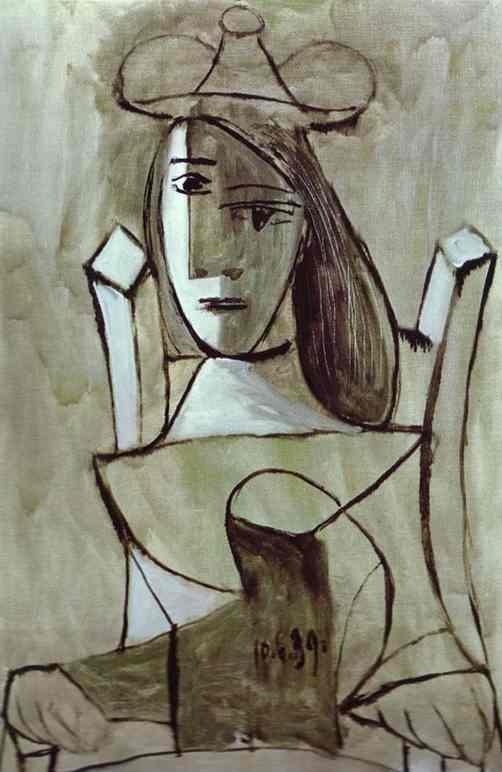 Пабло Пикассо. Удивленная молодая девушка
