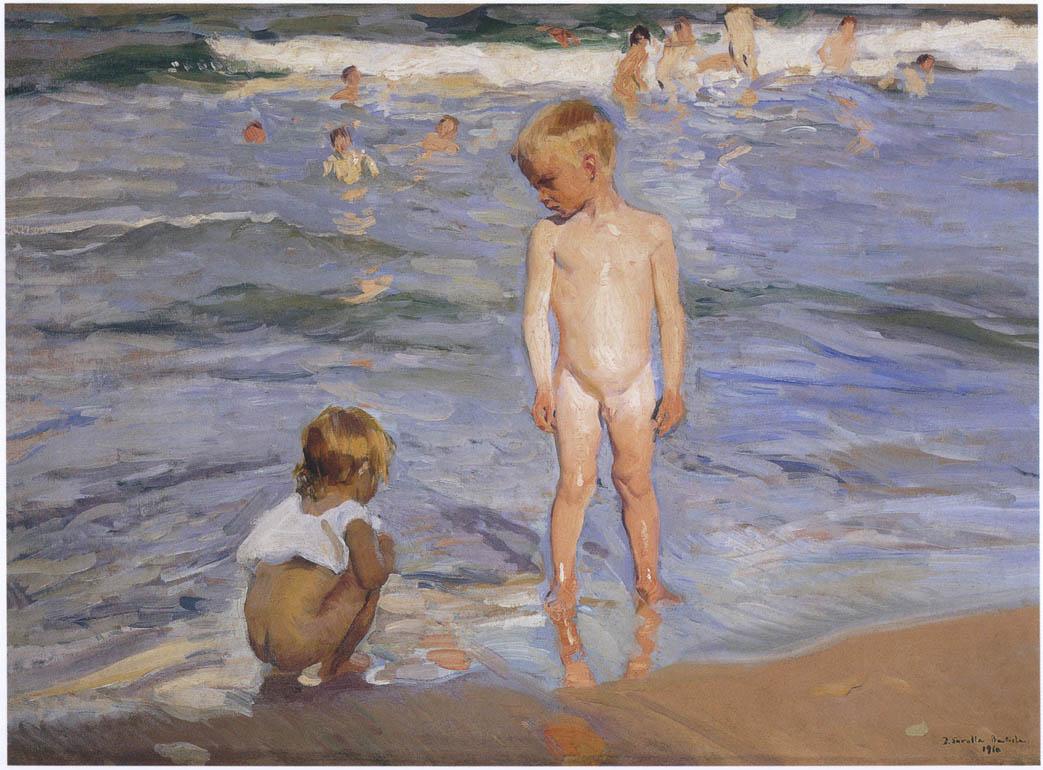 Хоакин Соролья (Соройя). Дети купаются под полуденным солнцем