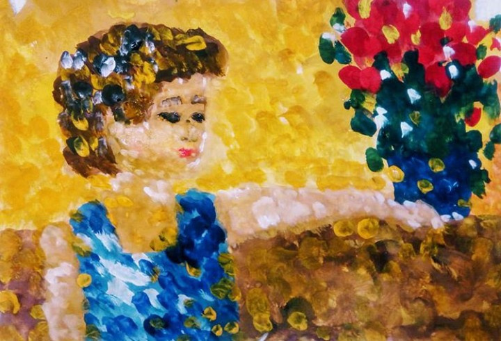 Elenka Ivankova. Portrait of a son. Fragment