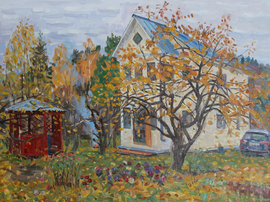 Eugene Alexandrovich Kazantsev. Autumn in the country.