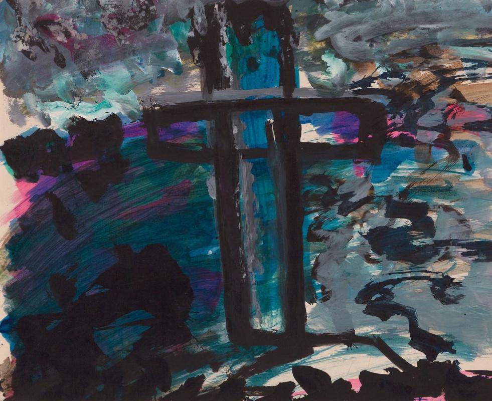 Фриц Ашер. Крест. Кладбище самоубийц Грюневальд
