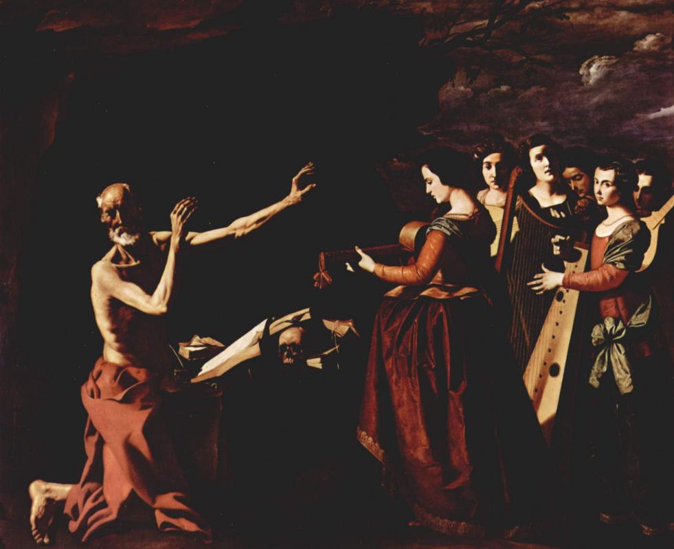 Франсиско де Сурбаран. Цикл картин для монастыря конгрегации св. Иеронима в Гуадалупе. Искушение св. Иеронима