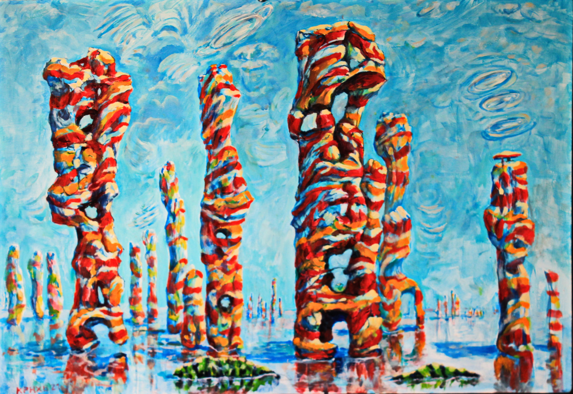 Leo Mikhailovich Karnaukhov. Columnas.