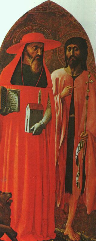 Томмазо Мазолино. Святой Иероним и Иоанн Креститель