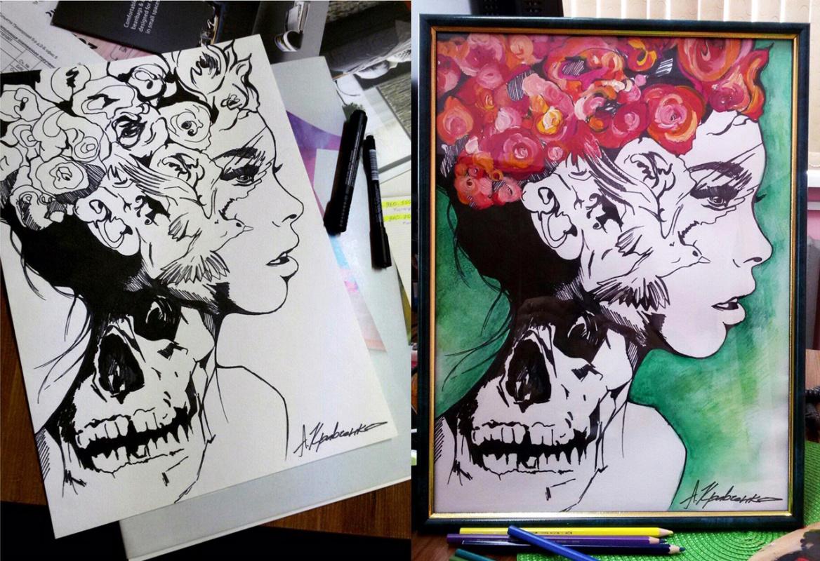 "Anastasia Alexandrovna Kravchenko. ""The girl with the skull"""