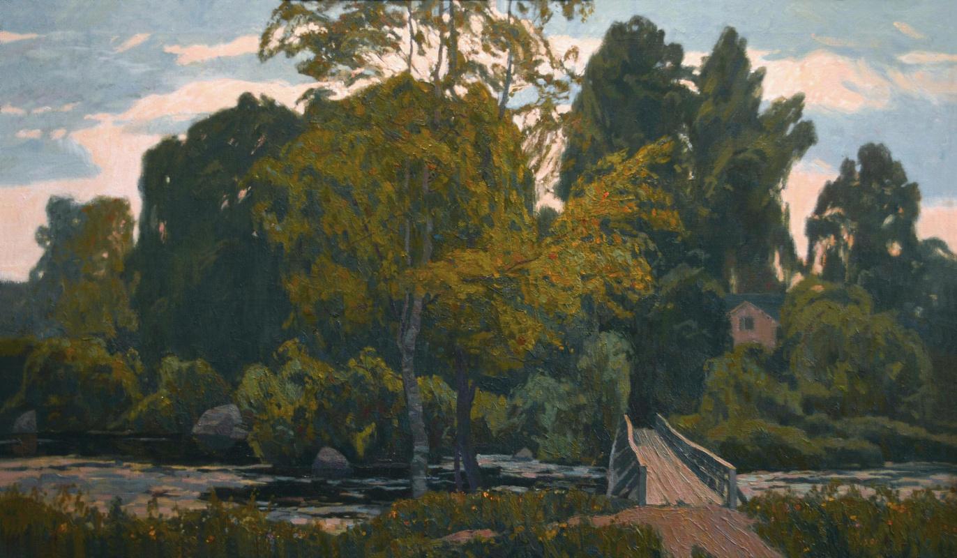 Ilya Andreevich Kozlov. Landscape with a bridge. Vuoksa