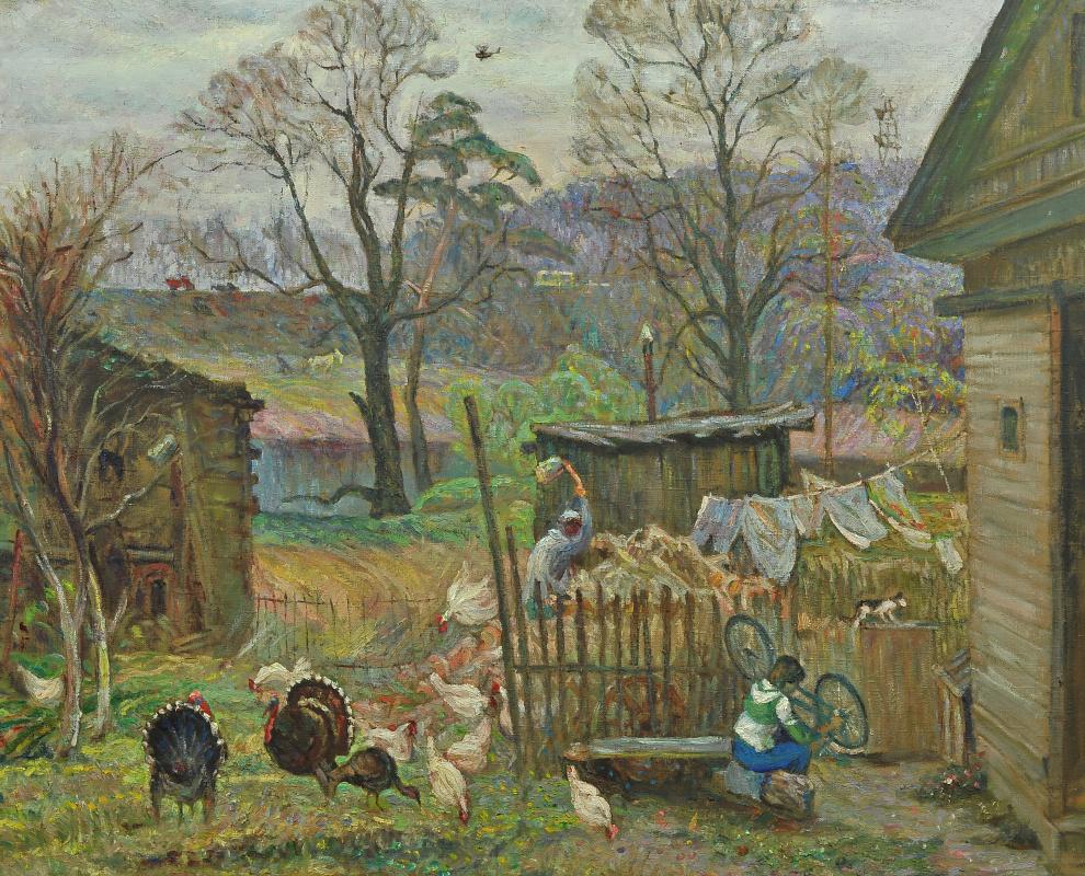 Валерий Иванович Ярош. Country yard