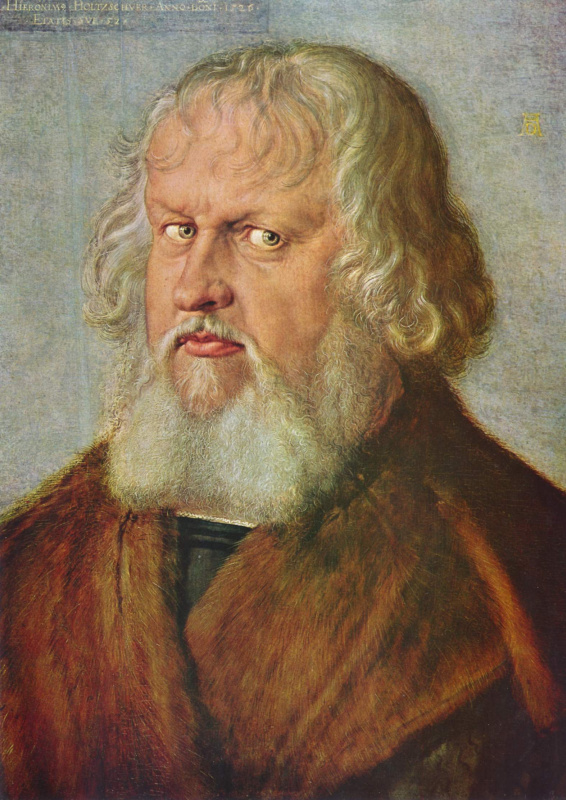 Albrecht Durer. Portrait Of Jerome Of Galssware