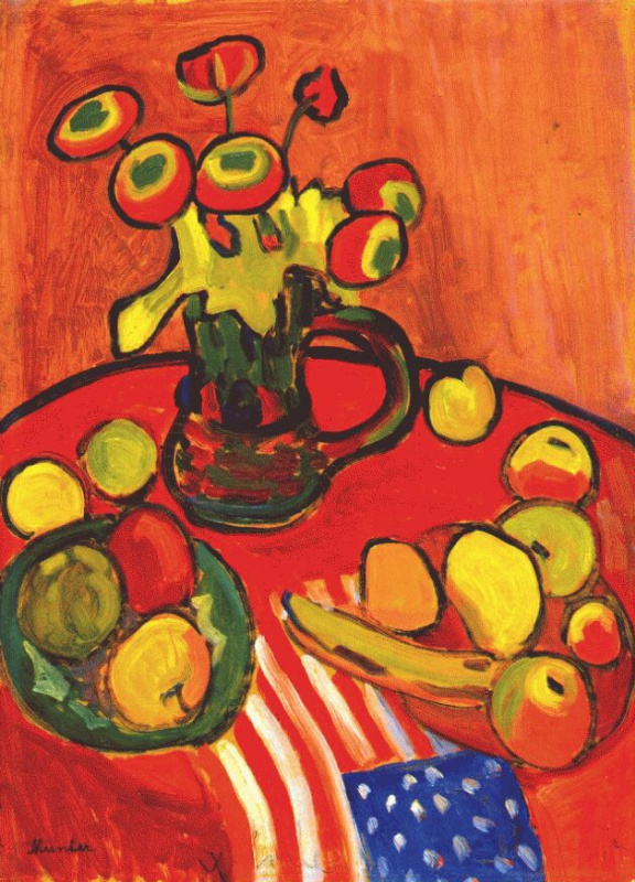 Gabriele Münter. Red still life