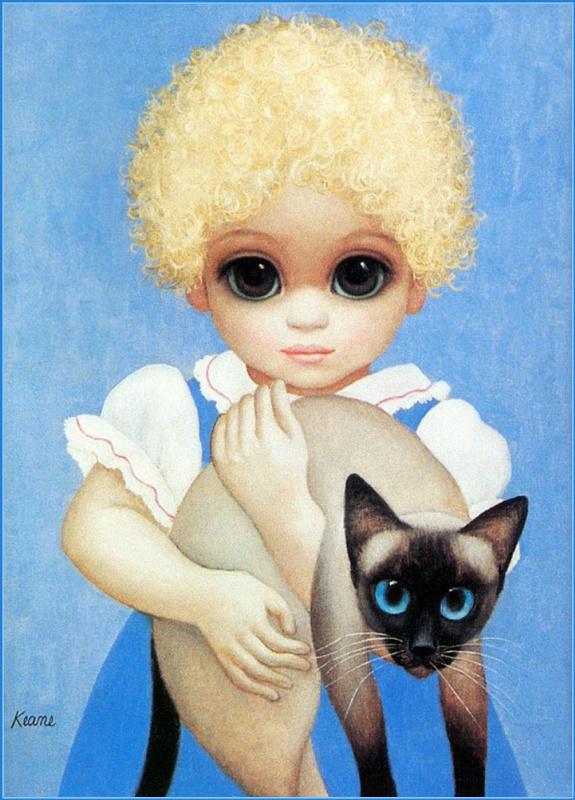 Маргарет Кин. Ребенок с котом