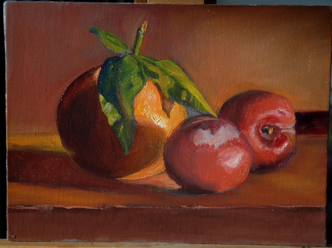 Sergey Valentinovich Karetnikov. Still life with plums