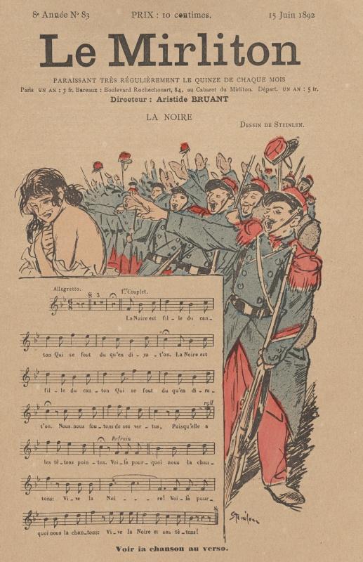 "Theophile-Alexander Steinlen. Illustration for the magazine ""Mirliton"" No. 83, June 1892"