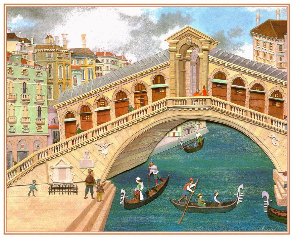 Giles Laroche. Ships under the bridge